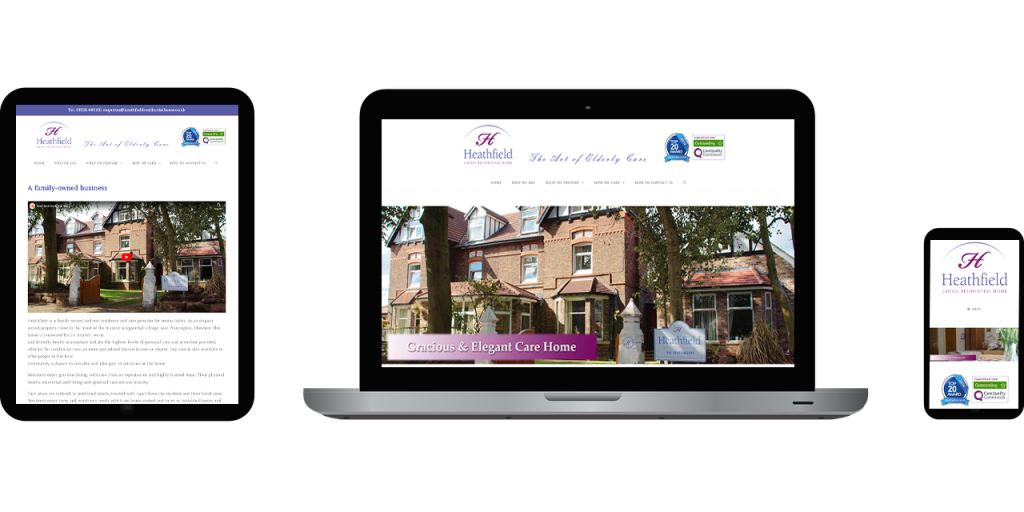 vision 4 dreams, website, project, work, complete, seo, heathfield, care, home